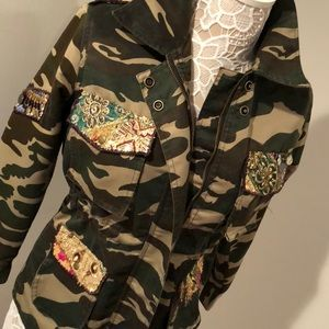 Anthropology Beautiful Stories camo jacket